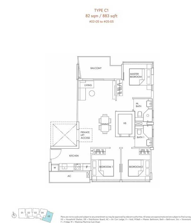 mooi residences floor plan