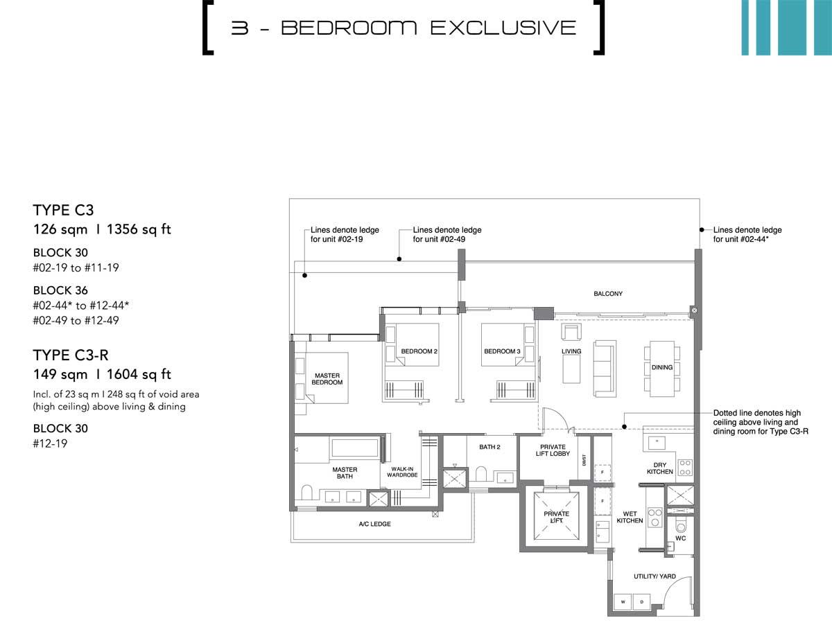 leedon green 3 bedroom exclusive
