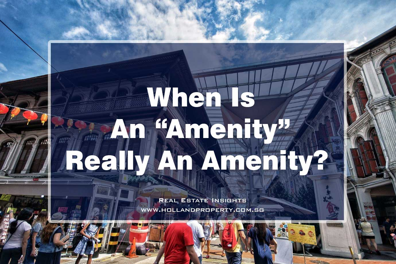 importance of amenities when buying a property