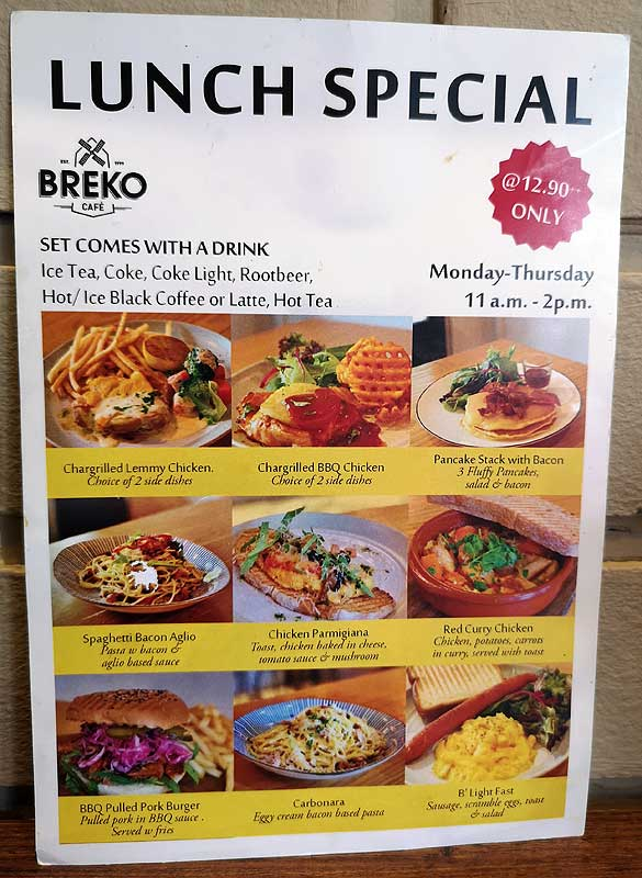 breko cafe lunch special