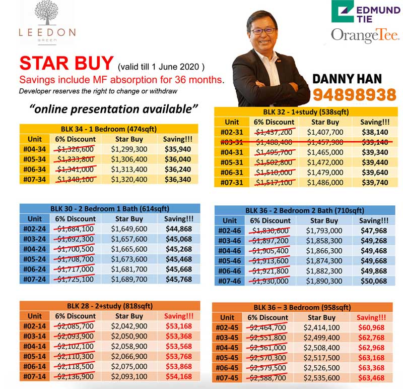 leedon green prices