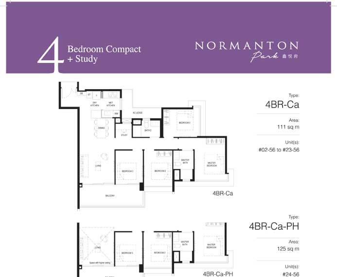normanton park floor plan 4BR