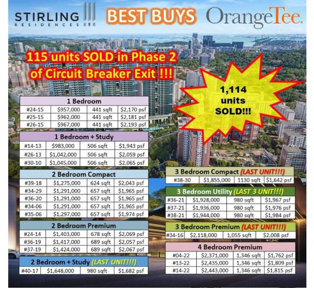 stirling residences best buys august 2020
