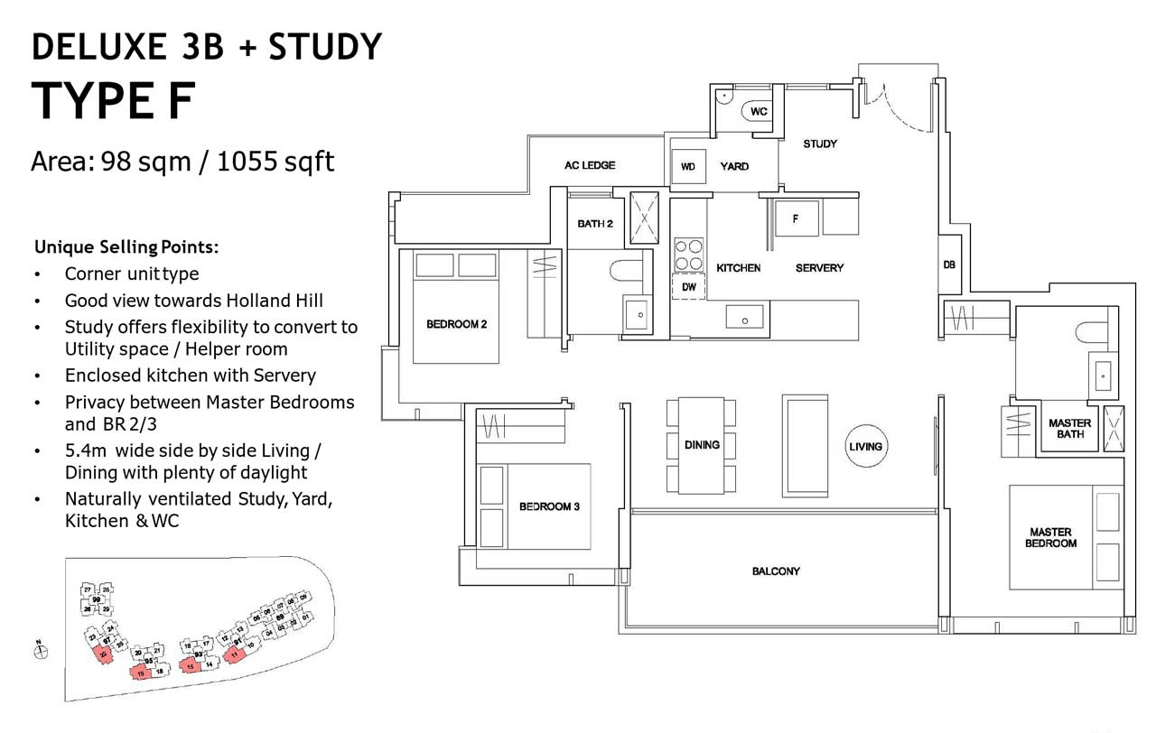 hyll on holland 3 plus study floor plan